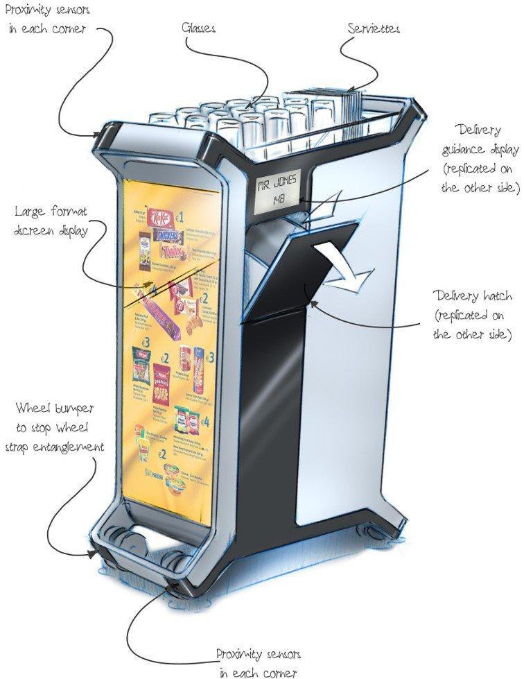 La hostess diventa un robot: si chiama Altran, e servirà pasti e bibite in aereo