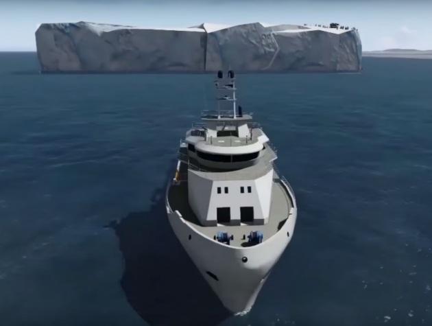 Un iceberg dall'Antartide agli Emirati Arabi