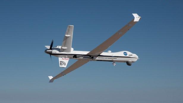 NASA drone ditches chase plane in milestone flight