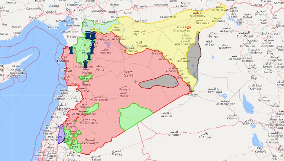 La Siria al settembre 2020